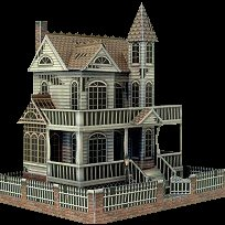 the ghost house a free paper model