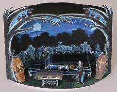 Papercraft imprimible y armable de un Diorama de un cementerio / The hearse playset. Manualidades a Raudales.