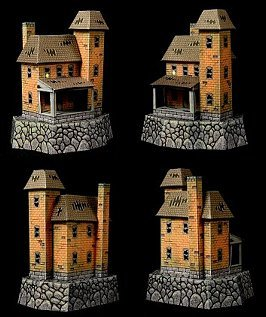 Paper model haunted house
