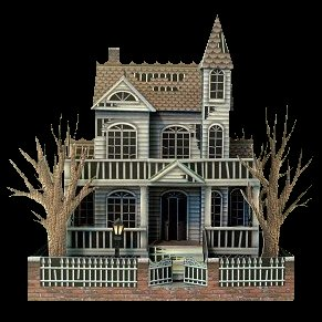 Paper craft haunted house